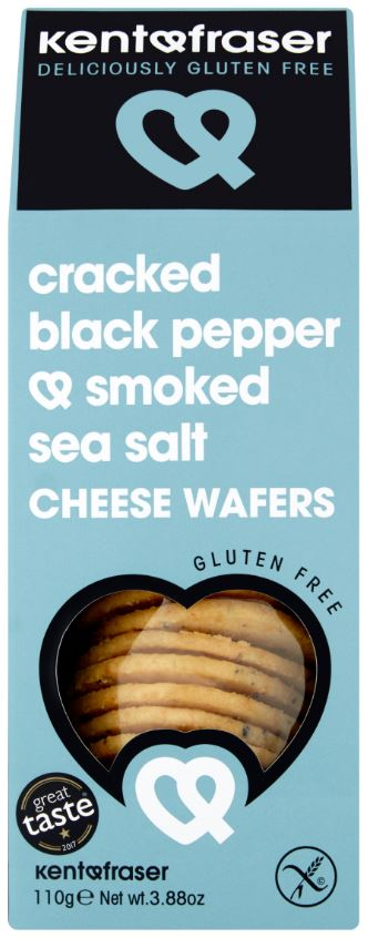 Cracked Black Pepper & Smoked Sea Salt Cheese Wafers
