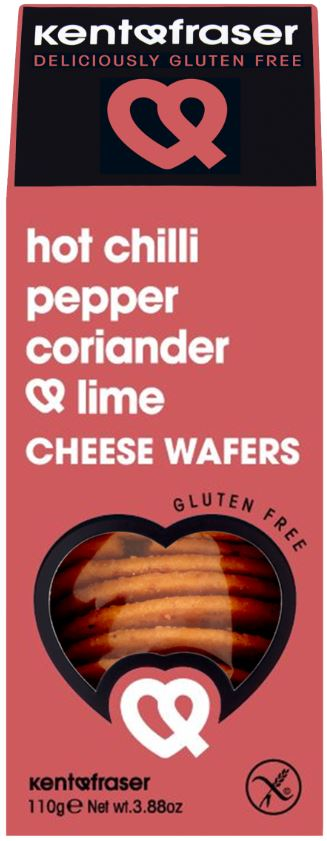 Hot Chilli Peppers, Coriander & Lime Cheese Wafers