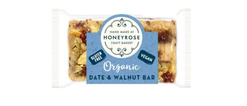Date & Walnut Bar gluten free and organic honeyrose bakery 25g