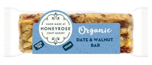 Date & Walnut Bar gluten free and organic honeyrose bakery 55g