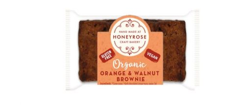 Orange & Walnut Brownie gluten free and organic honeyrose bakery 25g
