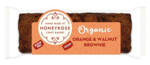 Orange & Walnut Brownie gluten free and organic honeyrose bakery 55g