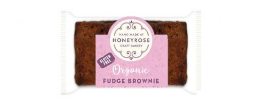 chocolate fudge Brownie gluten free and organic honeyrose bakery 25g