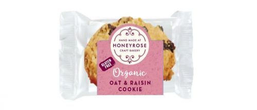 oat & raisin cookie gluten free and organic honeyrose bakery 25g