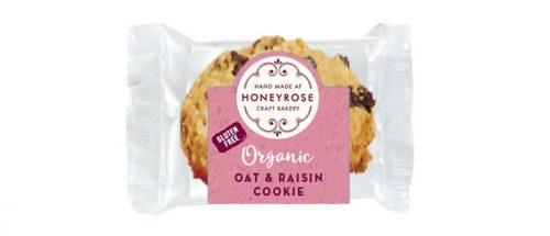 oat & raisin cookie gluten free and organic honeyrose bakery 25g