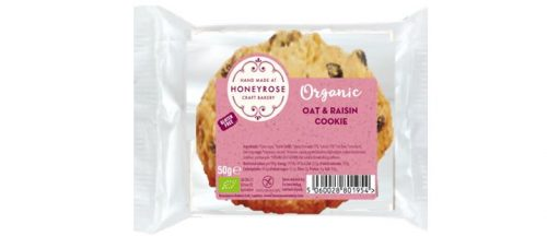 oat & raisin cookie gluten free and organic honeyrose bakery 50g