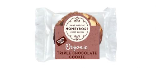 triple chocolate cookie gluten free and organic honeyrose bakery 25g