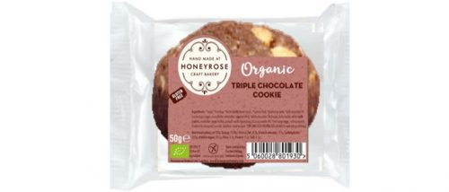 triple chocolate cookie gluten free and organic honeyrose bakery 550g